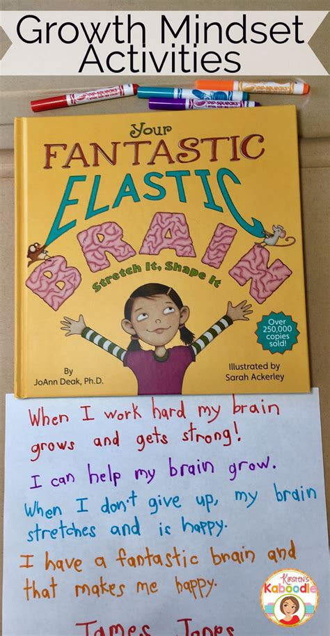 your fantastic elastic brain teaching growth mindset with your fantastic elastic brain activities mindset brain and activities