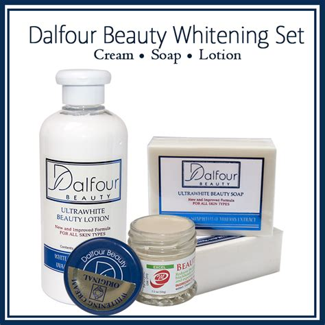 Beautyrossa Whitening Gold dalfour whitening set lotion with spf50
