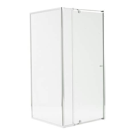 Shower Screen Glass by Estilo 1830 X 840 900 X 870mm Chrome Framed Glass Shower