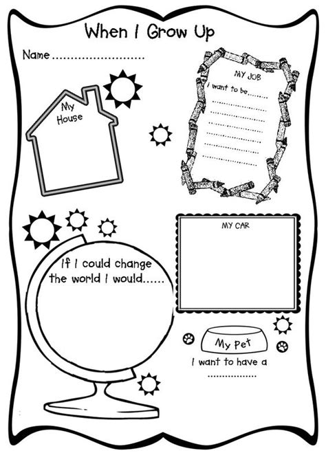Grow With A Thematic Course For Elementary Students when i grow up rainbow ideas literature activities and learning