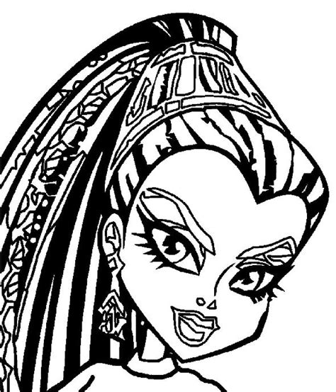 monster high coloring pages nefera de nile kids n fun com coloring page monster high nefera de nile
