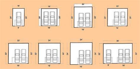 Size Of 2 Car Garage by Standard Two Car Garage Size Home Desain 2018