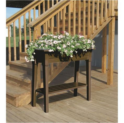 Raised Planters On Legs by Garden Planter Deluxe Plastic Planter Anglo