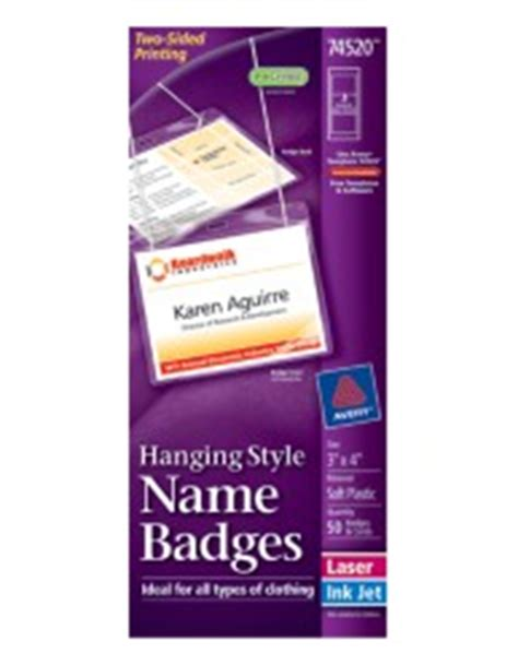 avery template 74520 insertable name badges