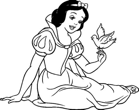 coloring pages cartoons disney snow white coloring pages from disney princess cartoon