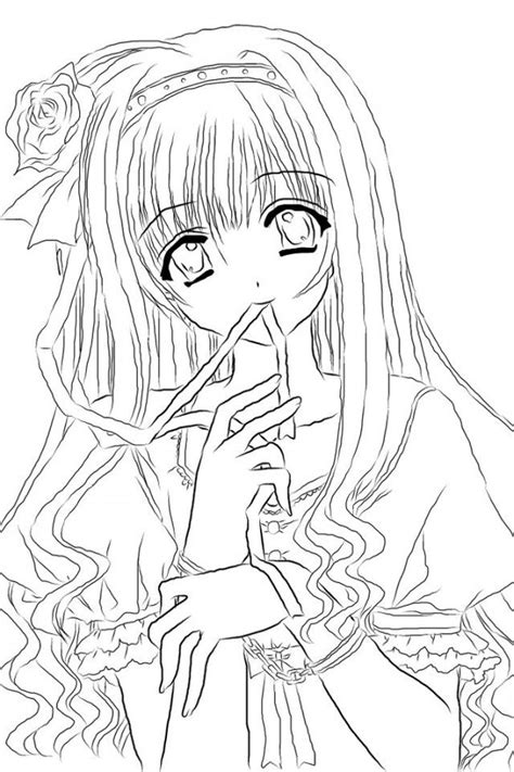 Anime Line Art Coloring Pages Coloring Home Anime Coloring Pages