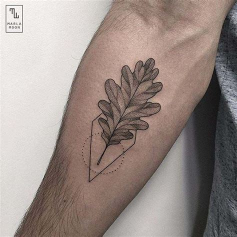 oak tattoo 90 leaf tattoos that celebrate the fall