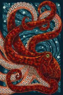 Shower Curtain Octopus Paper Mosaic Octopus By Alixbranwyn On Deviantart