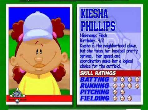 backyard baseball where are they now kiesha phillips