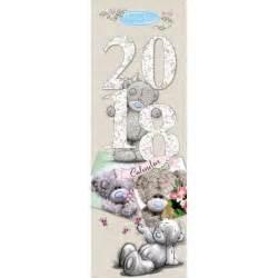Calendar 2018 Slim 2018 Me To You Slim Calendar C79sl001 Me To You