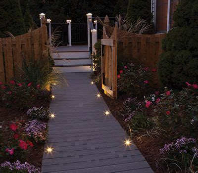Led Outdoor Landscape Lighting Deck Lighting Post Lights Led Step Amp Stair Lights Trex