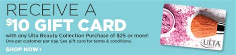 Ulta Gift Cards At Walmart - free 10 ulta beauty gift card with 25 purchase freebies2deals