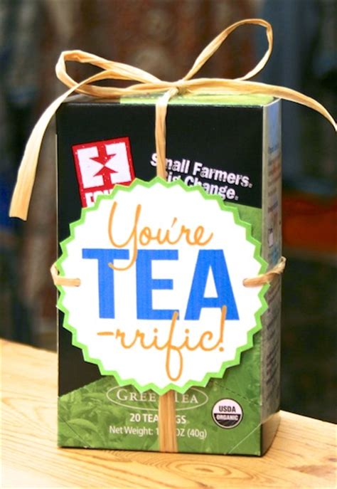 gift bag ideas for coworkers you re tea rrific new diy thank you gift idea fair