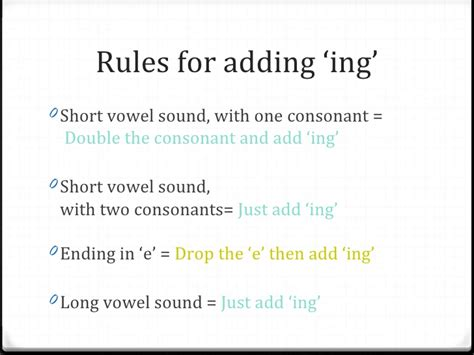 rule adding suffixes ed and ing changes the tense of a verb two consonant words driverlayer search engine