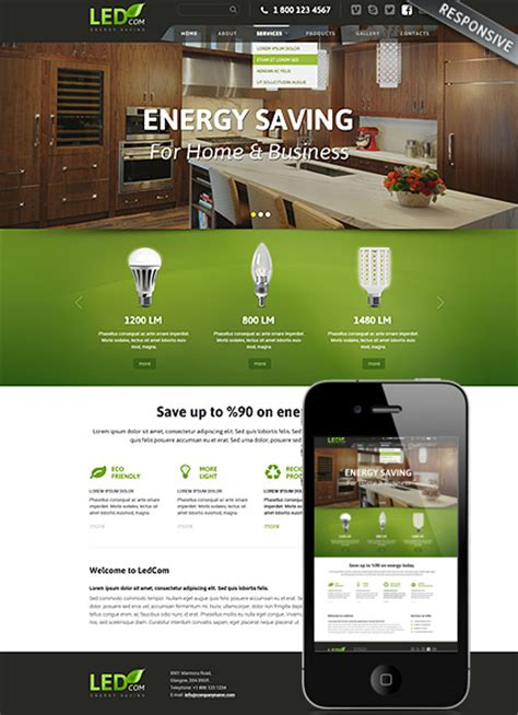 bootstrap themes energy energy saving bootstrap template id 300111834 from