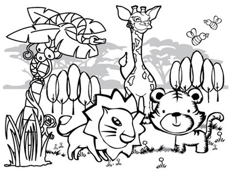 coloring page of jungle jungle coloring pages 11 coloring kids