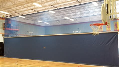 gym divider curtains cost courtsports inc gymnasium equipment basketball