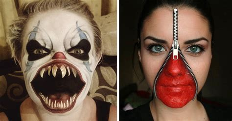 creepiest halloween makeup ideas bored panda