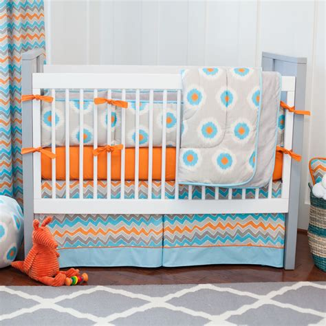Orange And Blue Crib Bedding Orange And Blue Bedding Gray And Orange Ikat Dot Baby Crib Bedding Bright And Bubbly This