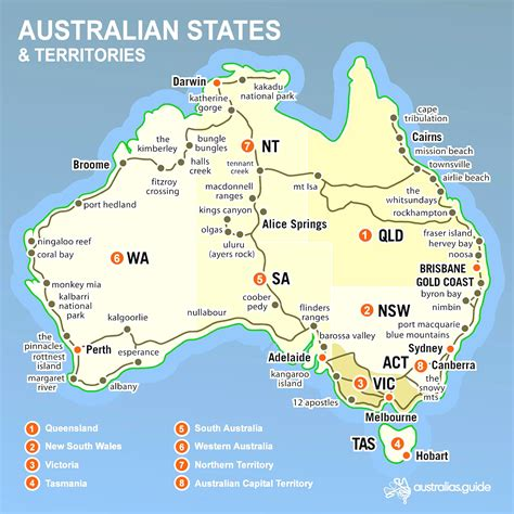 map of australia with territories map australian states and territories world maps