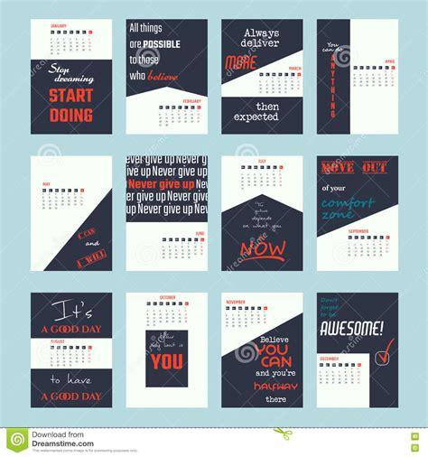 design poster website motivation quotes calendar 2017 stock vector image 77295336