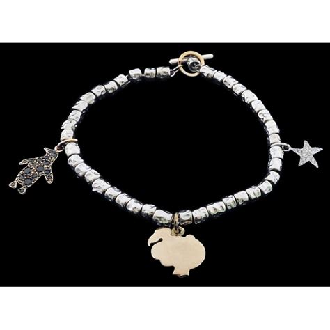 Pomellato Charms Bracelet Dodo Pomellato Trois Charms