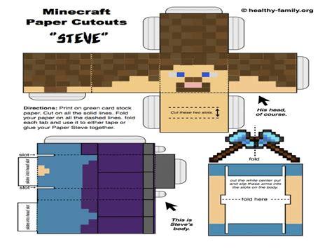 minecraft steve paper template minecraft paper cutouts steve minecraft steve