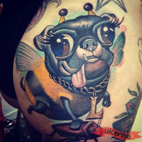 butt tattoo designs gallery of pug tattoos pug designs