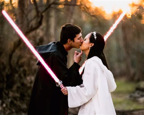 Wedding Lightsaber wars wedding on 5 000 budget features lightsabers