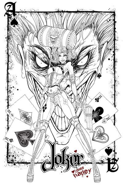 harley quinn coloring pages for adults harley loves the joker by jamietyndall on deviantart