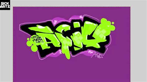 draw graffiti acid speed painting tutorial sketch