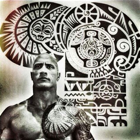 dwayne johnson brust tattoo the rock maori tattoo tattoos i love tats