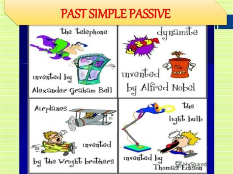 pattern of simple past active and passive past simple passive