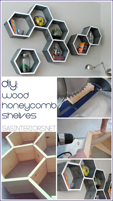 diy wood honeycomb shelves jenna burger
