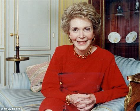 nancy reagan nancy reagan wraps up in republican red for outing in