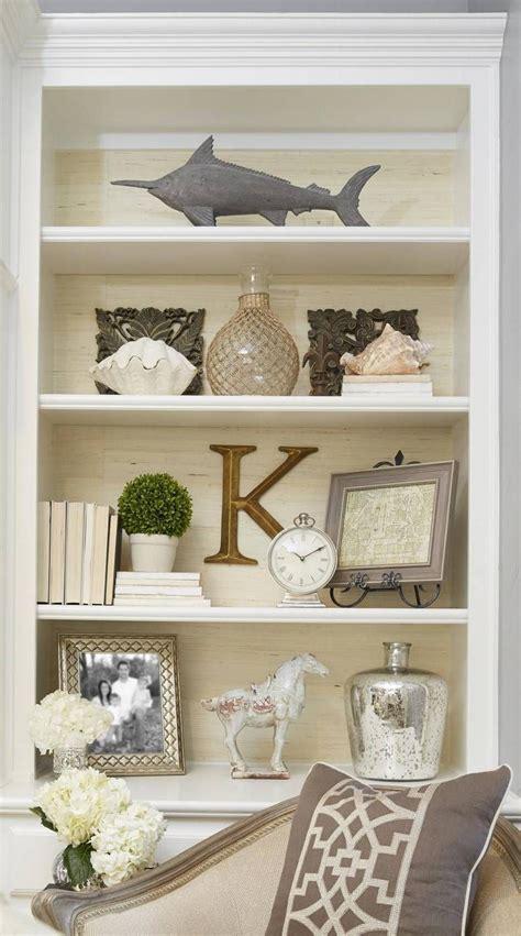 decorating living room built in shelves