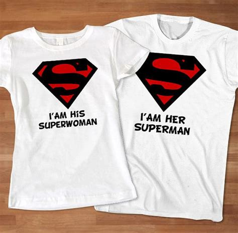 Shirts For Couples Superman Superwoman Couples Tshirt By