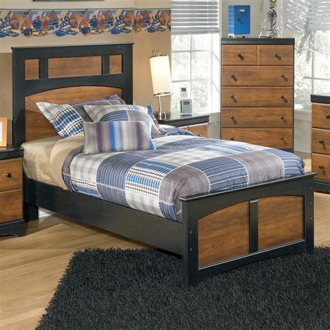 ashley furniture platform beds signature design by ashley aimwell two tone finish twin