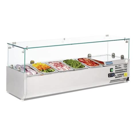 Refrigerated Bar Top by Polar G608 Refrigerated Counter Top Prep Serveries Cas