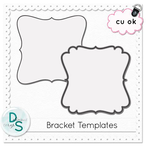 7 best images of bracket shape templates printable