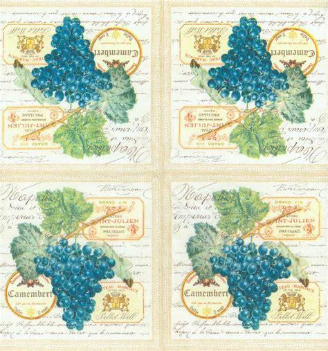 Modern Decoupage Paper - decoupage paper of merlot wine grapes napkins