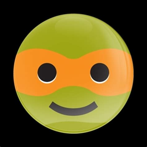Dome Badge Emoji Ninja Turtle