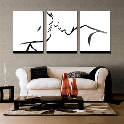 black and white paintings for living room 3 wall decor colorful abstract wall black and white living room