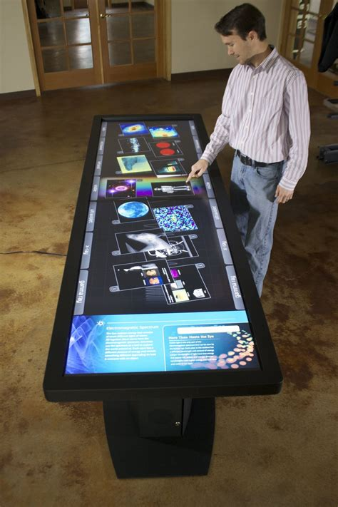 led lcd multitouch table   touch points