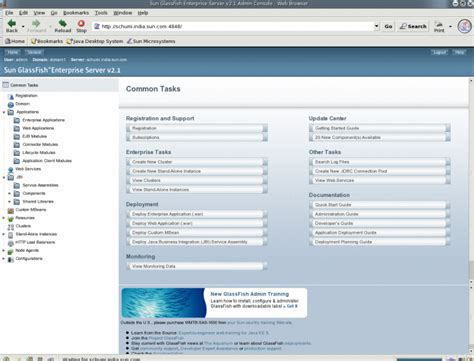glassfish admin console to log on to the admin console sun glassfish enterprise