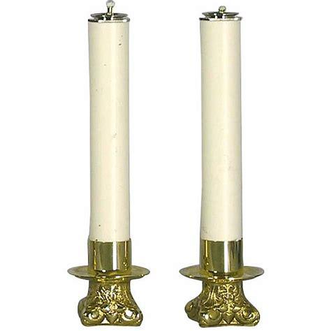 candele finte coppia candelieri 668 con finte candele 4668ca