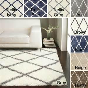 overstock rugs 8x10 nuloom moroccan trellis shag rug 8 x 10 contemporary