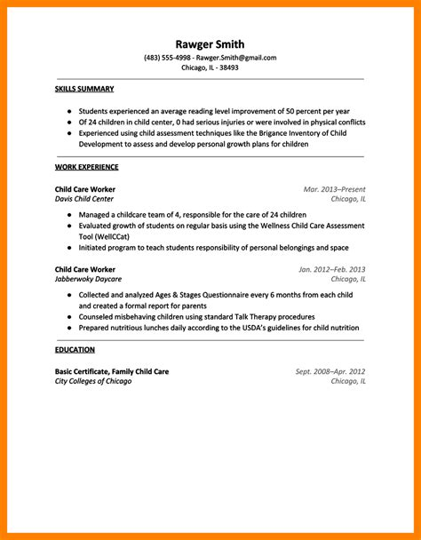 child actor resume sle how to write a minor on a resume 28 images child