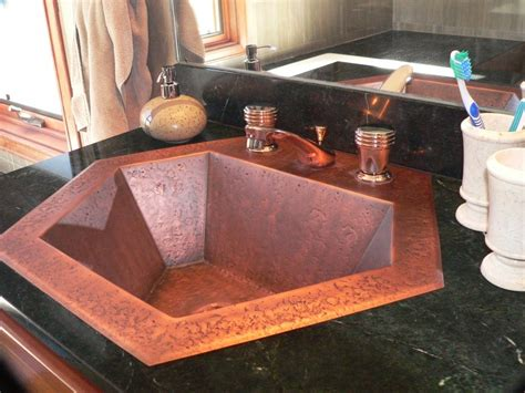 Bathroom Vanity With Copper Sink Copper Bathroom Sinks Copper Spun Custom Vanity Copper Sinks By Circle City Copperworks