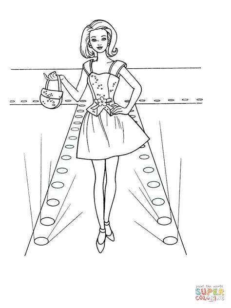 barbie model coloring pages ausmalbild mode show ausmalbilder kostenlos zum ausdrucken